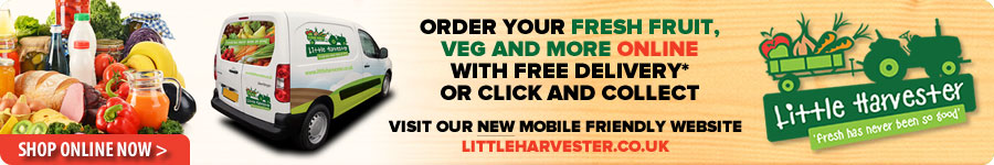 Order your fresh fruit, veg & more online with free delivery or click and collect. Visit our new mobile friendly website - littleharvester.co.uk - Shop online now >