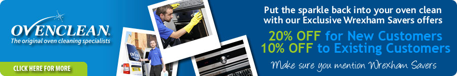 Ovenclean - Put the sparkle back into your oven clean with our Exclusive Wrexham Savers offers - 20% OFF for New Customers, 10$% OFF to Existing Customers - Make sure you mention Wrexham Savers. Click here for more