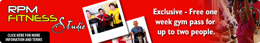 RPM Fitness Studio - Ecxclusive - Free one week gym pass for up to two people. Click here for more information and terms