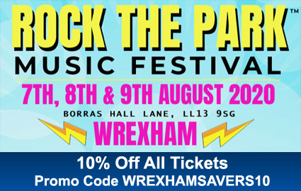 Rock The Park Music Festival 7th, 8th & 9th August 2020 - Borras Hall Lane, Wrexham, LL13 9SG - 10% Off All Tickets - Promo Code WREXHAMSAVERS10