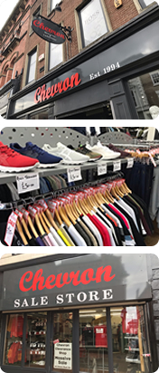 Photos of Chevron Clothing and Chevron Sale Store Wrexham