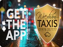 Wrexham and Prestige Taxis advert