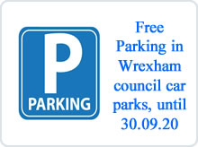 Free town centre parking. advert