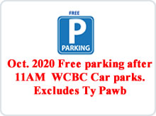 Oct Free Parking advert