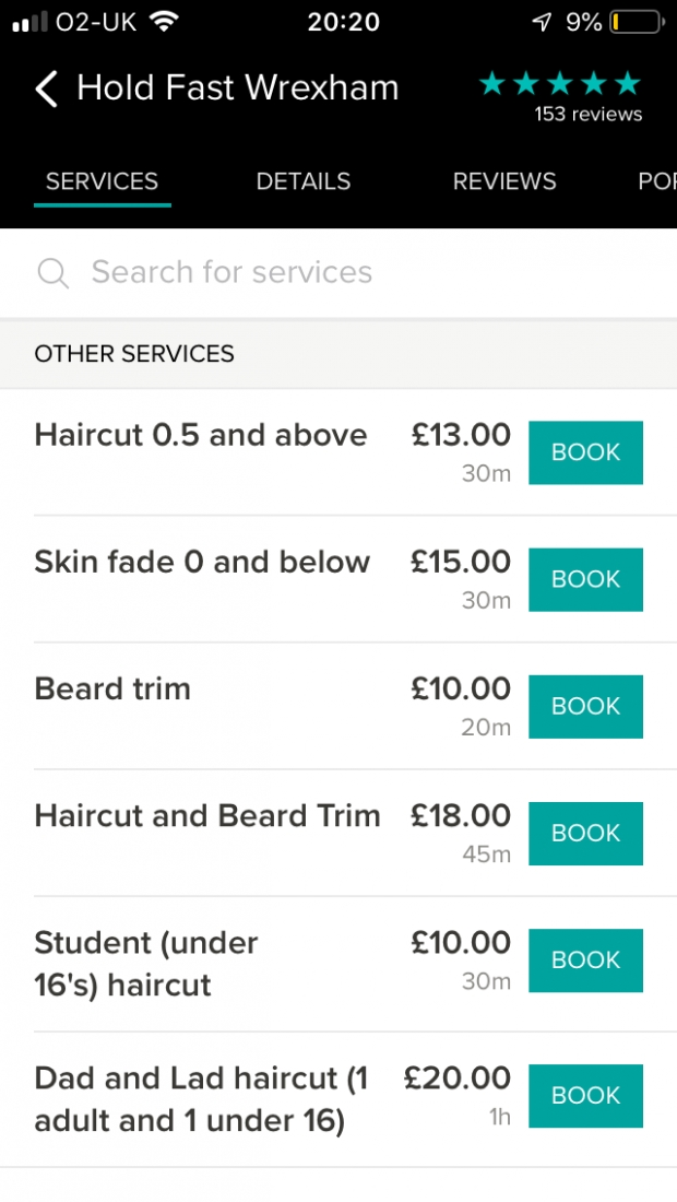 Free beard shape up with a hair-cut, was £18 but now £13 with a Wrexham Savers card.