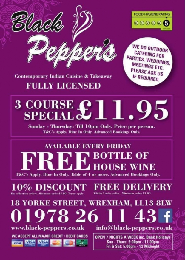 3 Course Special - £11.96 available to 10am