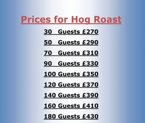 Free delivery on your Hog Roast - Wrexham Area - We cook and deliver, you carve.