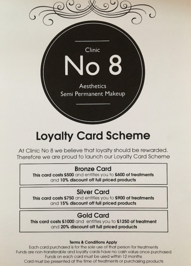 Save up to £250 with our loyalty card scheme